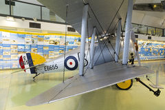 Sopwith Snipe World War 1 fighter aircraft. London, United Kingdom - 6 September 2013: Sopwith Snipe on display in the RAF museum London Stock Images
