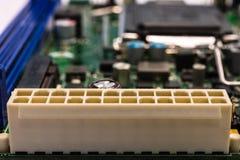 Soquete de poder principal do computador Fotos de Stock