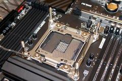 Soquete do cartão-matriz do processador do computador fotos de stock royalty free