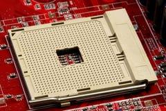 Soquete do processador central imagem de stock