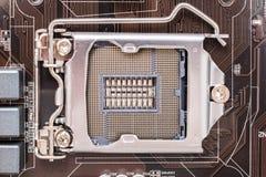 Soquete do processador central do cartão-matriz Imagem de Stock Royalty Free