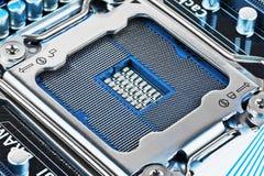 Soquete do processador central no cartão-matriz Foto de Stock Royalty Free