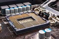 Soquete do processador principal do computador Imagem de Stock