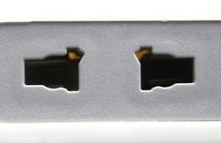 Soquete elétrico de dois pinos foto de stock royalty free