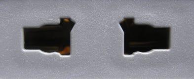 Soquete elétrico do pino da cor 2 do cinza imagens de stock
