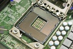 Soquete moderno do processador central Imagens de Stock Royalty Free