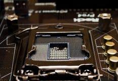 Soquete moderno do processador central de 22 nanômetro Fotografia de Stock Royalty Free