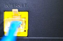 Soquete para a conexão a Internet Foto de Stock