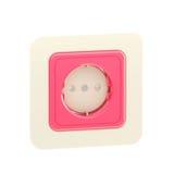 Soquete plástico cor-de-rosa isolado Fotos de Stock