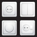 Soquetes e interruptores fotos de stock royalty free