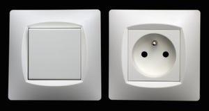 Soquetes e interruptores Imagem de Stock