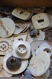 Soquetes e interruptores velhos Fotos de Stock