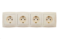 Soquetes elétricos Fotografia de Stock Royalty Free