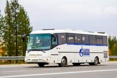 SOR LH10.5 Arktika. NOVYY URENGOY, RUSSIA - AUGUST 31, 2012: Interurban coach SOR LH10.5 Arktika at the city street royalty free stock images