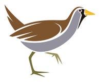Sora. Stylized waterbird Sora - vector illustration Stock Image