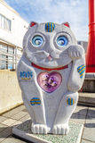 Sorachan sculpture in Tokyo. TOKYO, JAPAN - NOVEMBER 15, 2015: Sorachan is a Geidai Taito Sumida sightseeing art project that located on the side of Sumida river royalty free stock photos