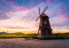 Sorae ecology wetland park, Beautiful sunset and traditional win Stock Photos