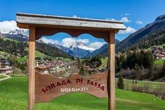 Free Soraga City Landscape, Val Di Fassa, Italy Royalty Free Stock Image - 194814826