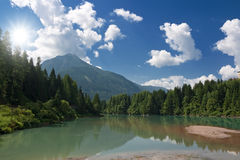 Soraga Lake Royalty Free Stock Images