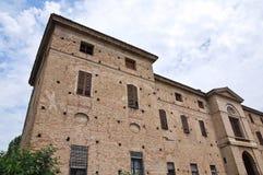 Soragna Meli Lupi堡垒。伊米莉亚罗马甘。意大利。 库存照片