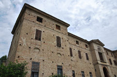 Soragna Meli Lupi堡垒  伊米莉亚罗马甘 意大利 库存照片