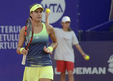 Sorana Cirstea. Of Romania pictured during her WTA Bucharest Open match against Andreea Mitu of Romania. Mitu won, 5-7, 6-2, 6-4 Stock Photography