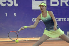 Sorana Cirstea. Of Romania pictured during her WTA Bucharest Open match against Andreea Mitu of Romania. Mitu won, 5-7, 6-2, 6-4 Royalty Free Stock Image