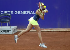 Sorana Cirstea. Of Romania pictured during her WTA Bucharest Open match against Andreea Mitu of Romania. Mitu won, 5-7, 6-2, 6-4 Royalty Free Stock Photo