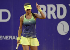 Sorana Cirstea. Of Romania pictured during her WTA Bucharest Open match against Andreea Mitu of Romania. Mitu won, 5-7, 6-2, 6-4 Royalty Free Stock Photography