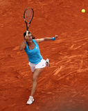Sorana Cirstea (ROU) at Roland Garros 2009. PARIS - JUNE 1: Sorana Cirstea of Romania in action at French Open, Roland Garros on June 1, 2009 in Paris, France stock photography