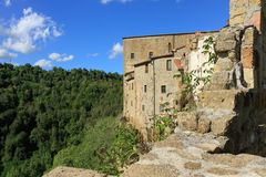Sorano, Τοσκάνη, Ιταλία Στοκ φωτογραφίες με δικαίωμα ελεύθερης χρήσης