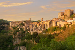 Sorano beautiful and cozy medieval town in the Grosseto of prov. Ince in southern Tuscany,Europe Stock Photos
