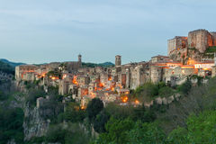 Sorano beautiful and cozy medieval town in the Grosseto of  prov. Ince in southern Tuscany,Europe Stock Image
