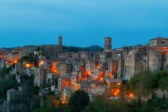 Sorano beautiful and cozy medieval town in the Grosseto of  prov. Ince in southern Tuscany,Europe Royalty Free Stock Images