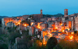 Sorano beautiful and cozy medieval town in the Grosseto of  prov. Ince in southern Tuscany,Europe Stock Images