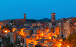 Sorano beautiful and cozy medieval town in the Grosseto of prov. Ince in southern Tuscany,Europe Royalty Free Stock Photos