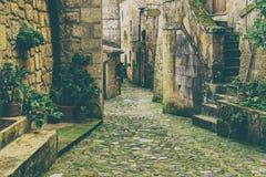 Sorano city street Stock Image