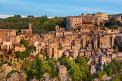 Sorano city view Stock Images