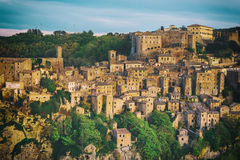 Sorano city view Stock Photography