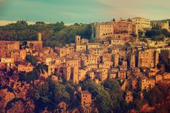 Sorano city view Stock Photos