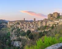 Sorano - Etruscan tuff city. Italy Stock Image