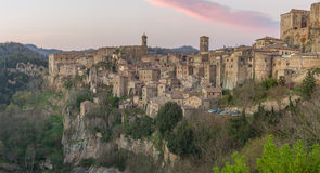 Sorano - Etruscan tuff city Royalty Free Stock Photo