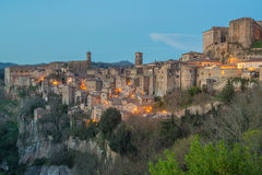 Sorano - Etruscan tuff city. Italy Stock Photo