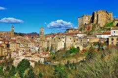 Sorano Italien royaltyfri bild