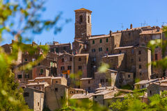 Sorano medieval town in Tuscany Italy Royalty Free Stock Photography