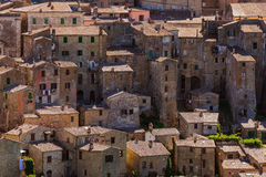 Sorano medieval town in Tuscany Italy Royalty Free Stock Images