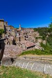 Sorano medieval town in Tuscany Italy. Architecture background royalty free stock image