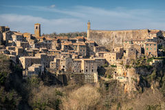 Sorano medieval town on Tuscany, Italy, Europe. Stock Images