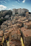 Sorano medieval town on Tuscany, Italy, Europe. Stock Photos