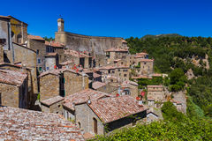 Sorano medieval town in Tuscany Italy Stock Photo